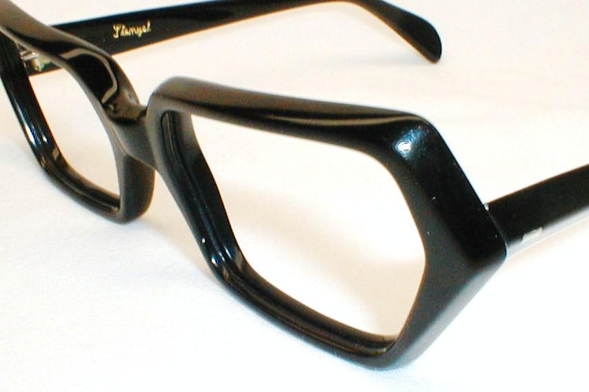 mens vintage eyeglasses black stenzel italy occhiali
