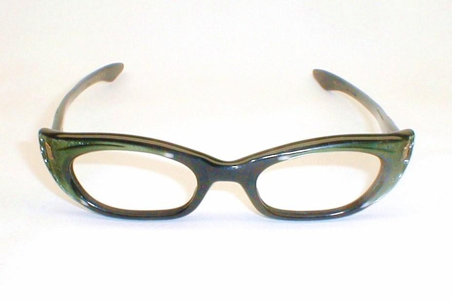 Swank Green and Black Eyeglasses Frame France, DeParee II ...
