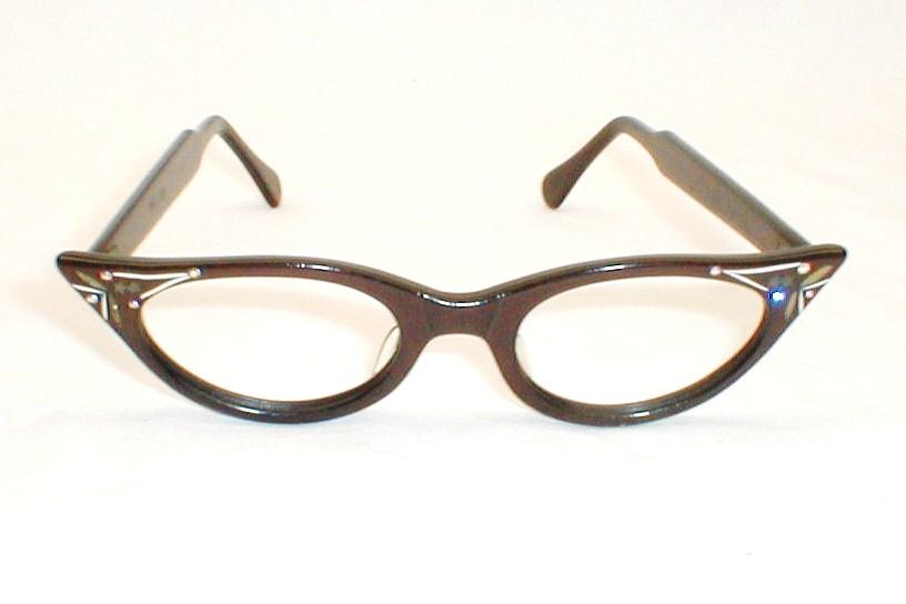 Womens Vintage Eyeglasses, Black Cat Eye