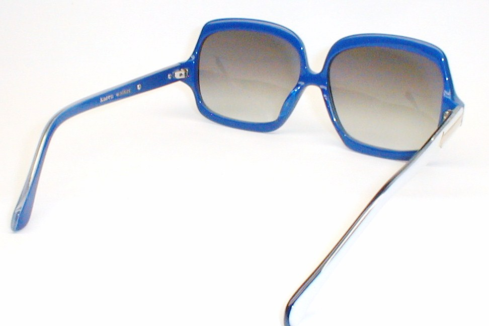 Karen Walker Designer Sunglasses, Blue & White Oversized ...