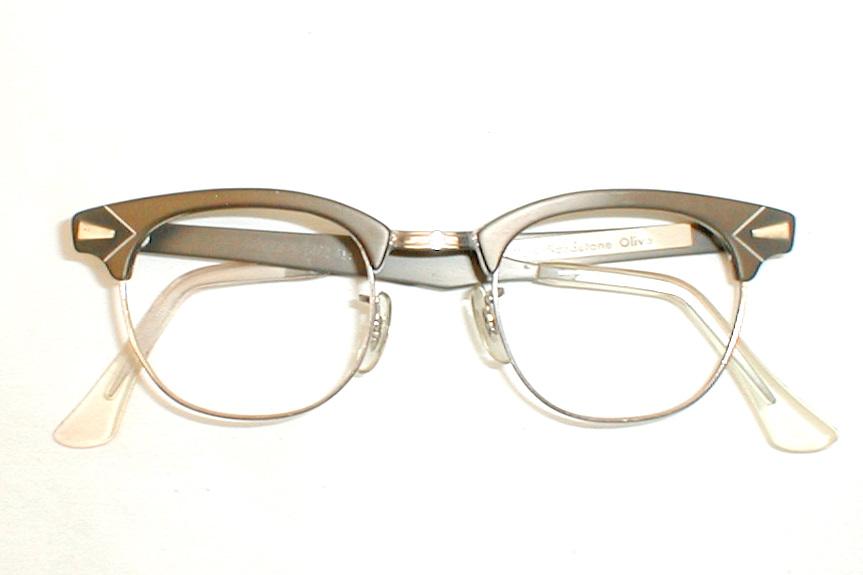 ff13c30903 Mens Vintage Art-Craft Eyeglasses Frames Silver Mauve