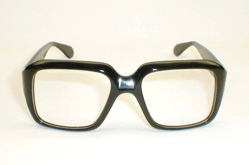 Mens Large, Bausch & Lomb Thick Black Heavy Vintage Retro Eyeglasses ...