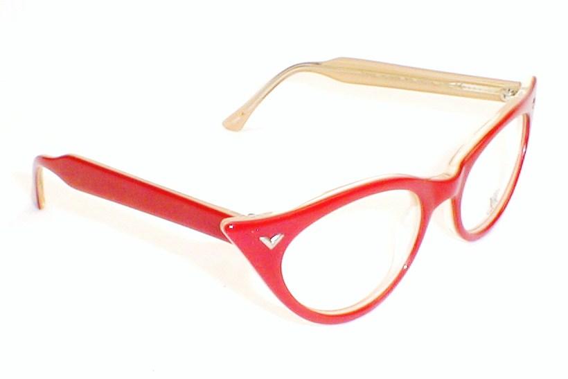 Vintage Ladies Eye Glasses CatEye , Victory Optical