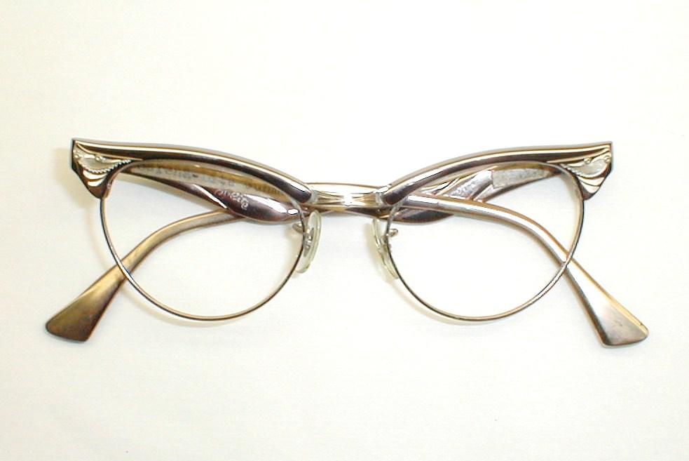 Vintage Cat Eye Glasses Eyeglasses 1950s 60s ZyLite Serena