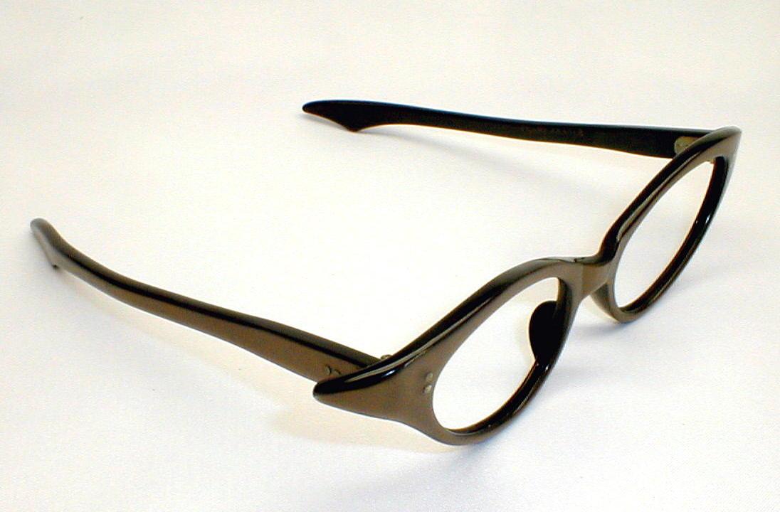 Glasses Frames Black And Gold : Womens Vintage Cat Eye Glasses Frames Gold Black