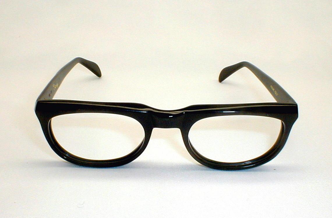 Glasses Frames Italy : Mens Vintage Eyeglasses Eyewear Frame Italy Stenzel Black ...