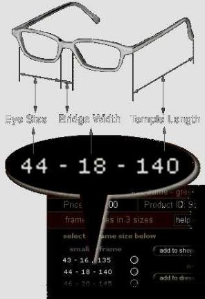 Framesize Eyeglasses Frame Size Help Guide For Measuring